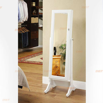 Home furniture Mirrored Jewelry Armoire dressing mirror cabinet