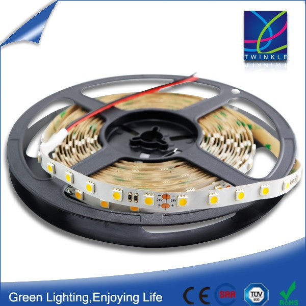 Epistar LED strip high brightness18-20lm/LED 24 v led strip 14.4 w with 3 year warranty