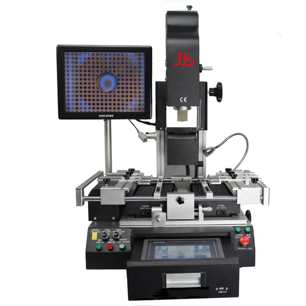 LY G620 Semi-Automatic BGA Rework Station with touch screen control, k-type thermocouple closed-loop control soldering station