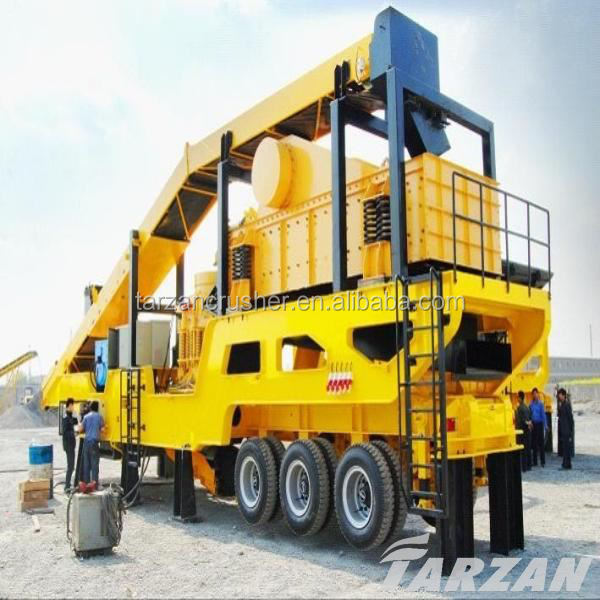 Professional design mobile concrete crushing machine manufacturer for sand making line