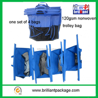 Wholesale 4 Bags Supermarket Trolley Foldable Shopping Bag, Shopping Cart Bag