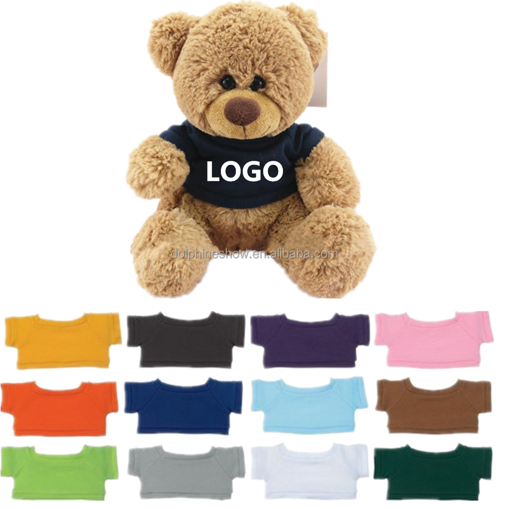 Brand Name Cheap Plush Teddy Bear T shirts With LOGO Wholesale Kids Stuffed Soft Plush Toy Custom Teddy Bear