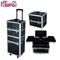 Best Selling Products Multi-Functional Aluminum Lighting Makeup Case With Stand