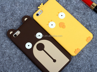 3D Cute Bear and Chicken Silicone Case for iPhone case back cover, China manufacturer