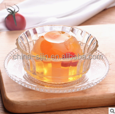 Good sale promotional glass plates quality tansparent dinnerware for hotel/restaurant/wedding