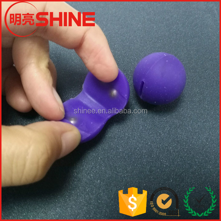 5mm 5.5mm solid rubber coated high magnet ball