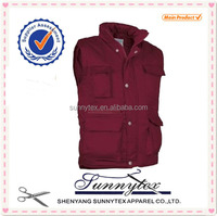 SUNNYTEX Winter Man Vest with Many Pockets padded working jacket