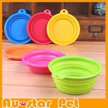 Wholesale PA14014 Customized Best Selling Collasible Foldable Silicone Pet Dog Bowls