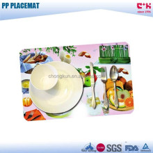 Kitchen decoration oven /plate use heat-resistant PP plastic frosted placemat/table mat