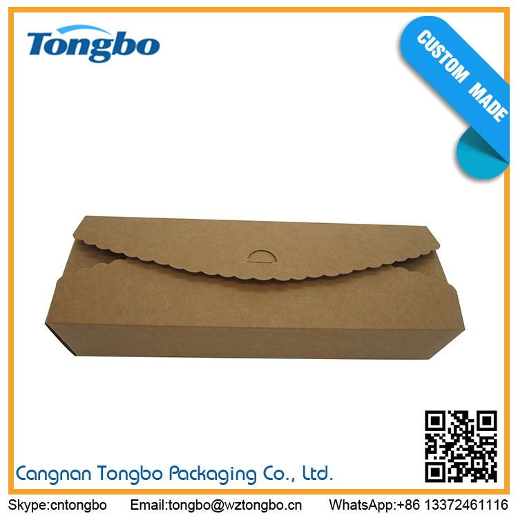 Wholesale High Quality Low Price rectangle kraft paper cake box cupcake packaging box