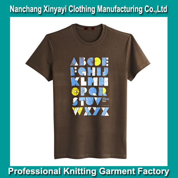 Latest 100% Mens Casual Cotton Shirts Brand Names / Clothes Men Korean Fashion Clothing /Cheap China Print Custom Cotton T-shirt