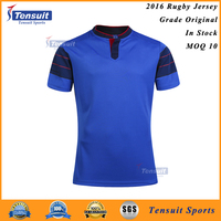 Professional mens 100% polyester dry fit sublimation rugby football wear