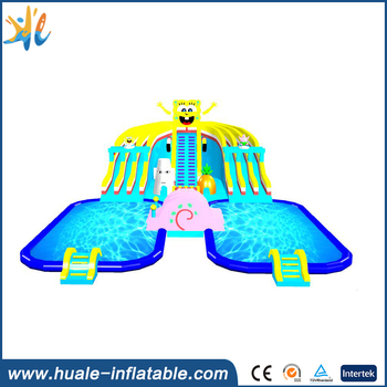 Giant inflatable water park , inflatable floating water park for sale