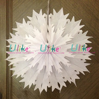 3d snowflake ornament high quality white paper snowflake
