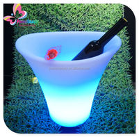 Night club used led lighted holiday decoration bucket