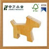 Hot sale unfinished plywoood wooden carved house toy