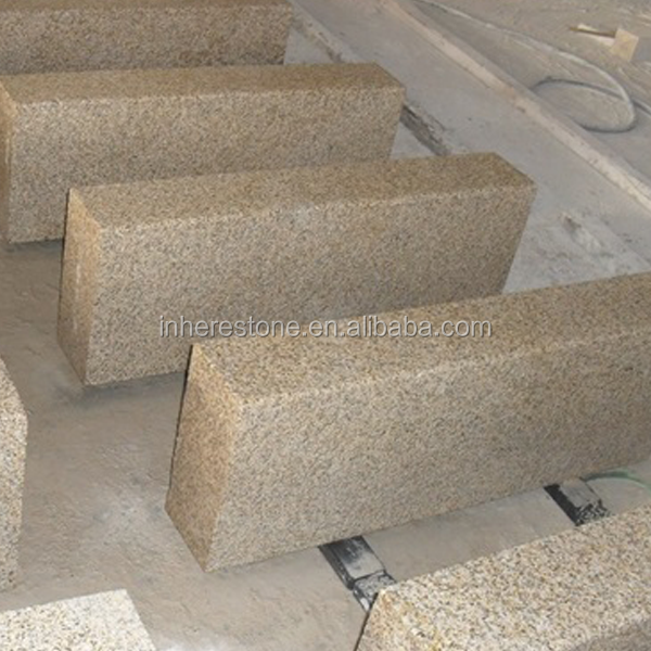 hot sale yellow granite road kerb stone