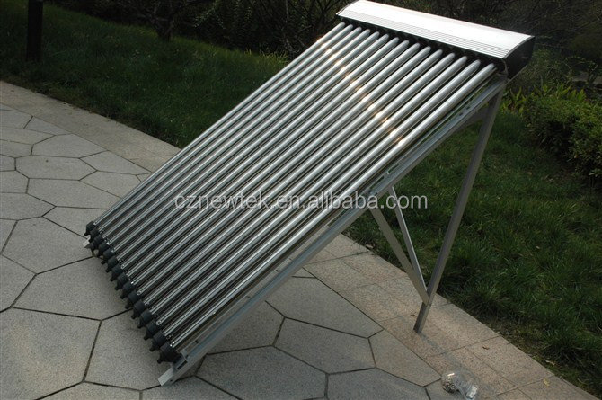 Heat pipe solar collectors