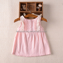Wholesale summer sleeveless cotton baby girls dresses