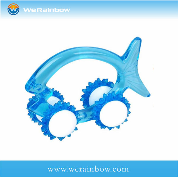promotional plastic fish shaped massager