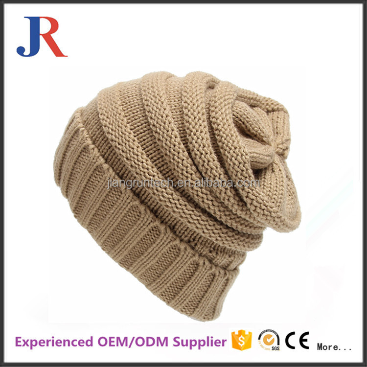 wholesale fashion cheap winter warm customized knitted hat for women
