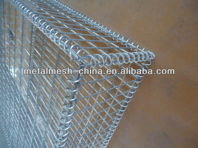Hot dipped galvanzied welded gabion stone cage wall