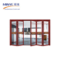 Australia standard bi-fold doors aluminum accordion folding door with black frame
