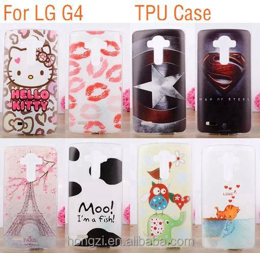 Fish Lips Painted Back Capa Gel Batman Superman Movie IMD TPU Soft For LG Optimus G4 H810 VS999 F500 Captain American Cover Case