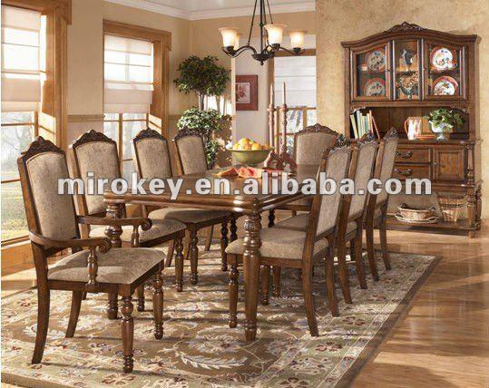 8 plazas de madera juego de comedor antigua mesa de for Mobilier salle a manger champetre