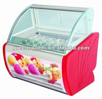 Italian ice cream showcase/Popsicle display freezer have different Size