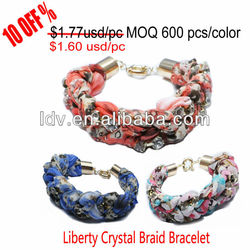 Inspired By Woven Friendship Bracelet Now New Girls Favorite Shiny Liberty Crystal Braid Bracelet