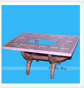Bone Inlay Dining Table with Glass Top Online