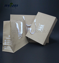 Recycled Cheap customized brown kraft paper bag wholesale