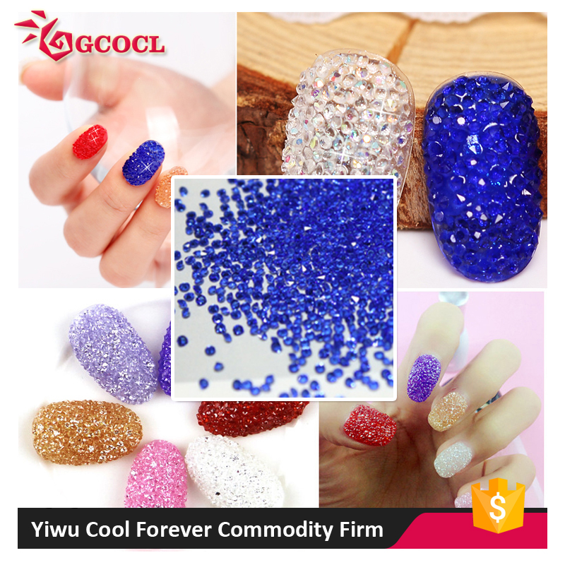 New Arrival different types personal care nail art colorful crystal rhinestone