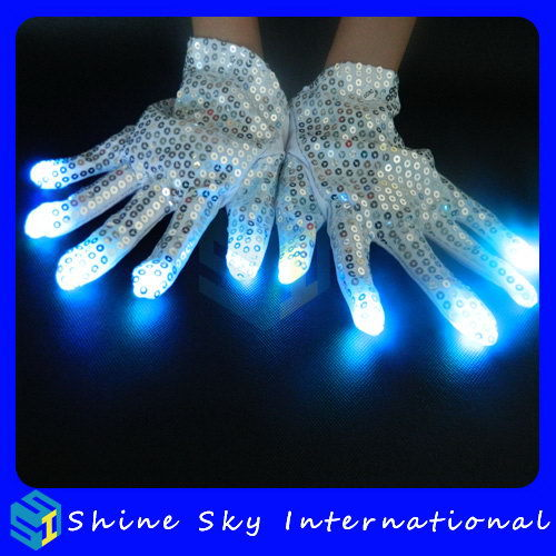 Bottom Price Promotional Bright Spot Led Flashing Glove