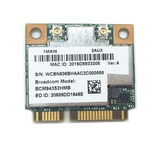100% tested working Laptop Half MINI PCI-E WLAN BT4 0 Combo wifi bluetooth  module BROADCOM BCM94352