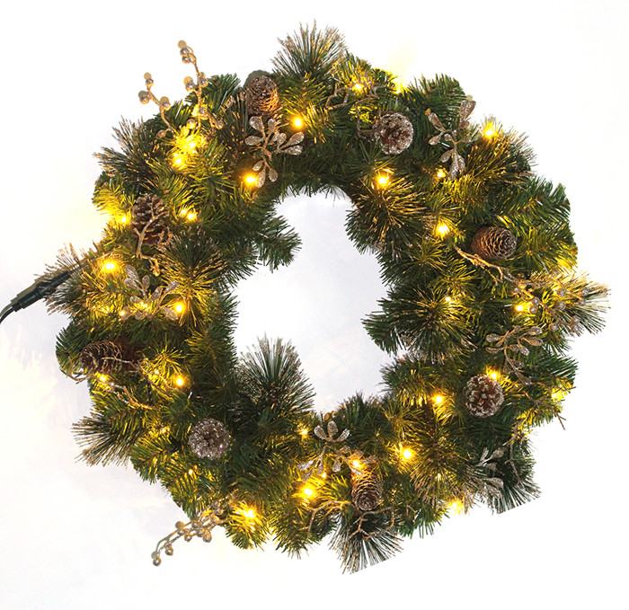 Pre lit christmas wreaths wholesale