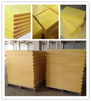 non-combustible and easily cut glass wool with excellent sound absorbency