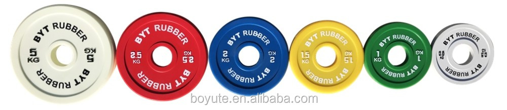 Fractional PU Rubber Plates /0.5/1/1.5/2/2.5/5KG