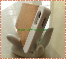 New Wood+PC Genuine leather Customized Mobile Case for iPhone5