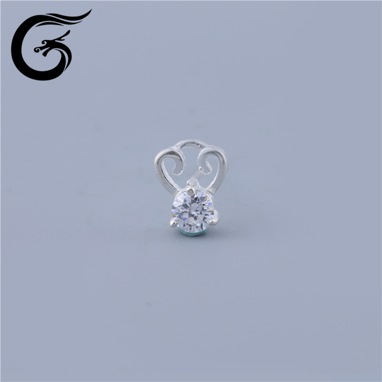 E wholesale 925 silver Clear Cubic Zirconia Stud Earings