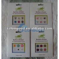 New Mobile Phone Home Button Sticker for iPhone for ipad for ipod touch