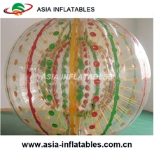 Nice Plastic colors strips zorb ball ,inflatable human sized zorb football ball for outdoor games