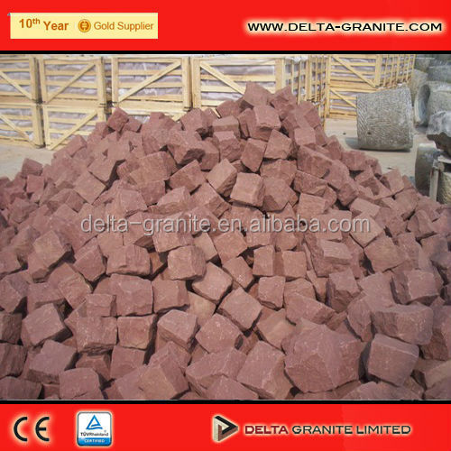 China shandong colorful granite cubes stone,Granite setts for paving stone