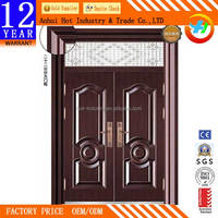 Luxury Wrought Iron Decorative Door Corrosion Resistance Waterproof Anti-theft Copper Gate Endurable Iron Entry Door