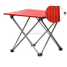 cheap metal frame lightweight camping fishing picnic BBQ small portable folding table