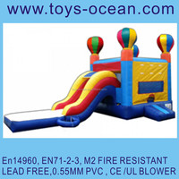 Newest colorful balloon Inflatable castle dry slide for kids and adults
