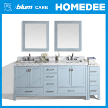 Wood color Bathroom vanity furniture / 2017 Modern waterproof Aluminum Bathroom vanity