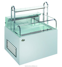 Milk Tea Cooler Showcase/Sandwich Display Island/Mini Cake Refrigerated Cabinet