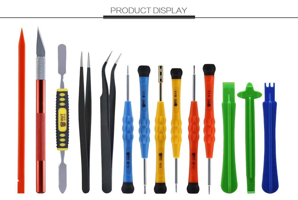 14pcs Hand Screwdriver Pry Opening Tool Bag Set Mobile Repairing Tool kit for iPhone